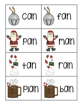 Polar Express Word Family Sort