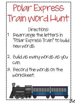 Polar Express Word Hunt