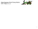 Polar Express Word Study Words- long vowels *EDITABLE