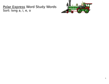 Polar Express Word Study Words- long vowels *EDITABLE
