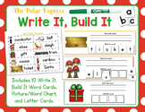 Polar Express:  Write It, Build It Polar Express Vocabulary Words Activity