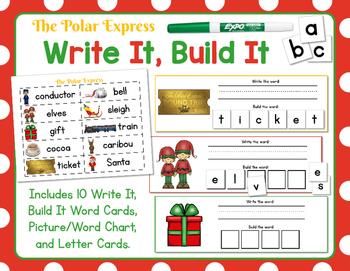 Polar Express:  Write It, Build It Polar Express Vocabular