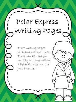 Polar Express Writing Pages