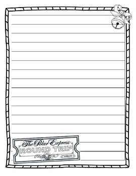 Polar Express Writing Paper