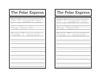 Polar Express Writing Prompt