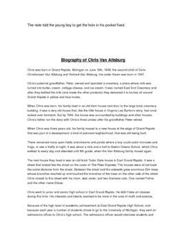 Polar Express by Chris Van Allsburg GR Activities and Author Study