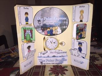 Polar Express by Chris Van Allsburg Interactive Lap Book