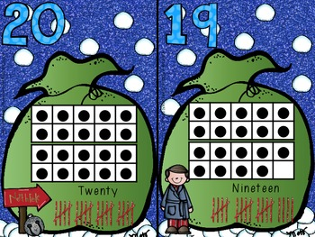 Polar Express inspired Number/Ten Frames Cards