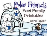 Polar Friends Fact Family Printables