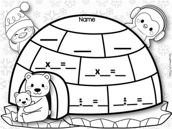 Polar Friends Fact Family Printables