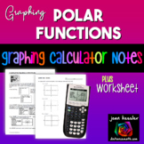 Polar Functions Graphing on the TI 83 TI 84 with HW