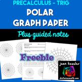 Polar Graph Paper plus Guided Notes Freebie  Unit Circle Paper Template