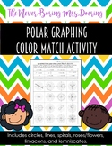 Polar Graphing Practice Color Match Activity [Precalculus or Geometry]