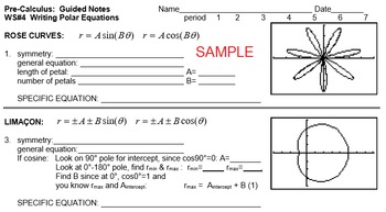 Polar Graphing to Complex Powers & Roots BUNDLE (Precalculus)