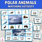 Polar Habitat Animals Matching Activity