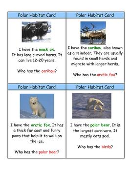 "Polar Habitat ""I Have, Who Has?"" Game"