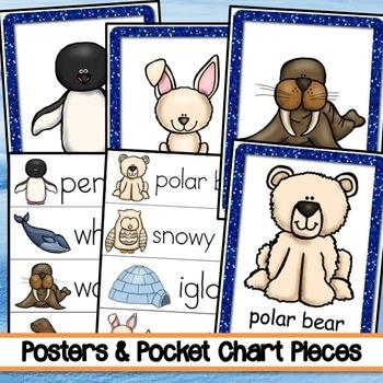 Polar Habitat Writing, Posters, Pocket Chart Pieces