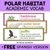 Polar Habitat Word Wall Vocabulary
