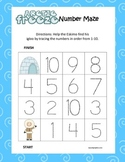 Polar Kindergarten Common Core Leveled Number Tracing Mazes (3 Total)