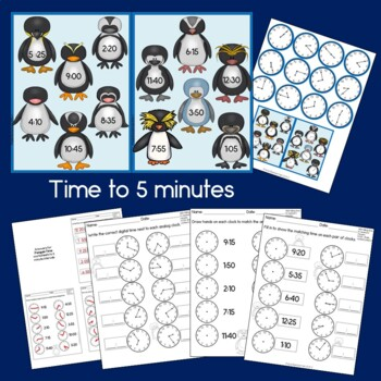 Polar Learning Bundle - 2nd grade (Science, Reading, Time, & Numbers to 100)