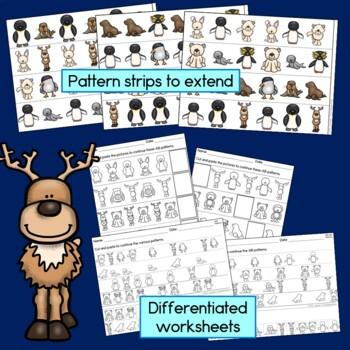 Polar Learning Bundle - kindergarten (Counting, Patterns, Sight Words, Craft)
