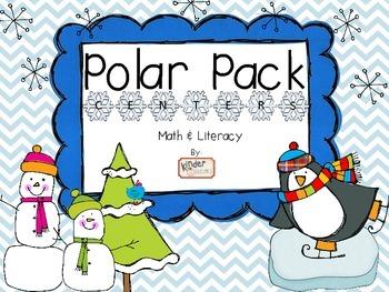 Polar Pack Math & Literacy Centers