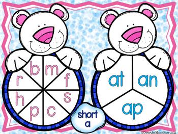 Polar Pairs CVC Short Vowel Spin-a-Word Center