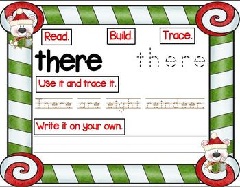 Polar Pals Christmas Sight Word Work (ELA Activities and Centers)