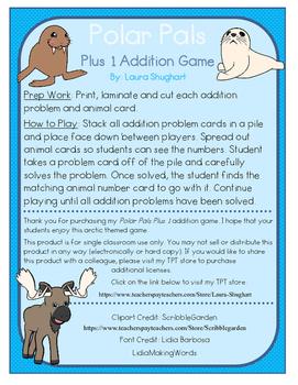 Polar Pals Plus 1 Addition Game