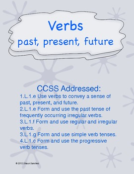 Polar Pals Verb Tense Center- Common Core aligned!