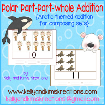 Polar Part-Part-Whole Addition {Arctic-themed addition for