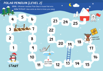 Polar Penguin Board games (Math Board games for young kids)