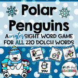 Polar Penguins Winter Sight Word Game - ALL 220 Dolch Words!