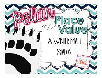 Polar Place Value {Winter Math Station} Math Printable