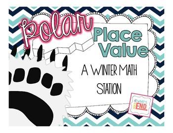 Polar Place Value {Winter Math Station} Math Printable