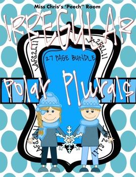 Polar Plurals - IRREGULAR PLURAL BUNDLE  2nd and 3rd Grade