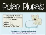 Polar Plurals: Winter Plural Nouns Sort & Write the Room (
