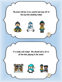 Winter Social Skills Activities Point of View