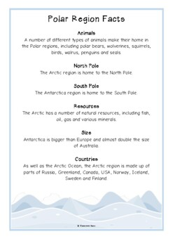 Polar Regions Fact Cards