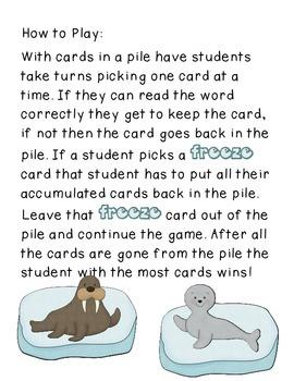 Polar Sight Words Game