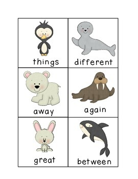 Arctic Dolch Sight Words Game