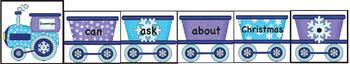 Winter Train Sentence Building Literacy Center