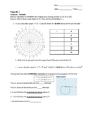 Polar Worksheet 1 of 3: Graphing Cardioids