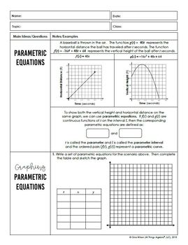 Polar and Parametric Equations (PreCalculus Curriculum - Unit 7)