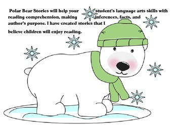 Polar bear Stories for language arts graphics by mycutegraphics.com