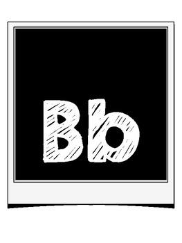 Polaroid Alphabet Letters