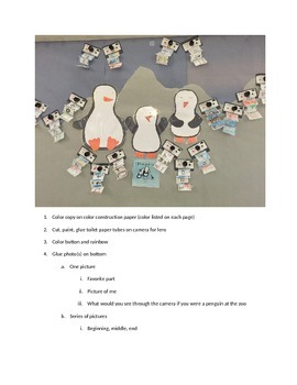 Polaroid Camera Craft with Penguins by Liz Pichon