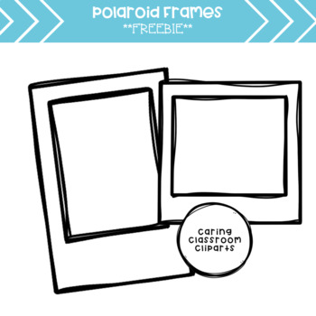 Polaroid Frames Clipart *Freebie* by Caring Classroom | TpT