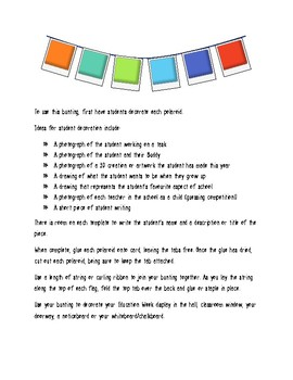 Polaroid-style bunting for Education Week