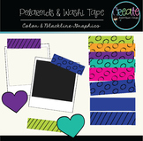 Polaroids & Washi Tapes - Digital Clipart